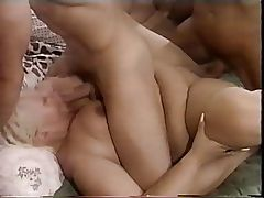 BBW - Obese - plumper and 2 guys on bed. - MIH