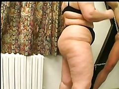 Fat Domme Granny Teases a Cock and Gets a Fuck