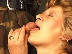 Plump granny fucked by military guy